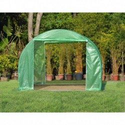 Serra tunnel 3x3m film 200gr/m² altezza 2,25m Green Protect